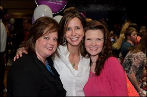 The Dance For Dimes fund-raiser was a success with the help of event planners, from left, Julie Diener, Sue Eidenier, and Tricia Dzierwa.