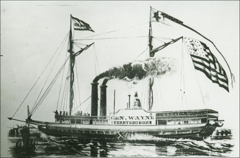 The Anthony Wayne, also known as the General Wayne, which sank in 1850, was found in 2006 about six miles off Vermilion, Ohio
