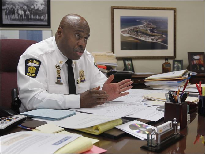 Toledo police to announce crime-reduction strategy Toledo police Chief Derrick Diggs says gang violence is not a police problem,  it's a community problem. 'The No. 1 thing is the violence will stop.'