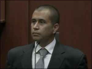 George Zimmerman testifies Thursday at his bond hearing, as seen in this image taken from video.