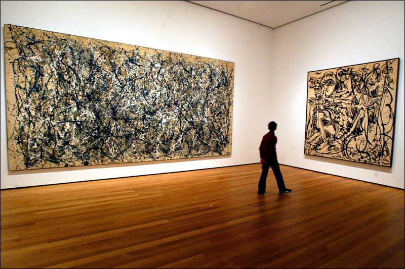 fans pay tribute to jackson pollock 100 years after birth toledo blade. Black Bedroom Furniture Sets. Home Design Ideas