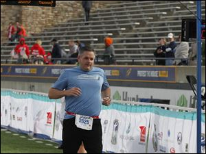 David McGranahan of Sylvania completes his first half marathon.
