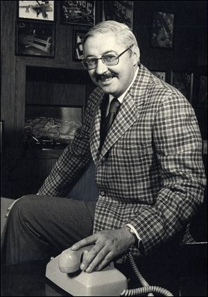 Ford Cauffiel, shown in 1975, holds several patents and owns other steel-processing businesses.