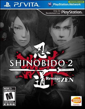 Shinobido 2: Revenge of Zen; Platform: Vita; Genre: Action; Publisher: Namco Bandai Games; ESRB Rating: M for Mature; Grade: *.