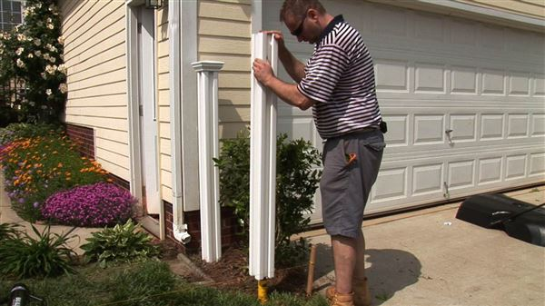 Tips for installing a vinyl fence the easy way the blade for Fence installation tips