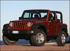 Chrysler sold12,814 of its Jeep Wrangler, above, in April. Sales of the Liberty, Jeep's other Toledo-made product, increased 19 percent.