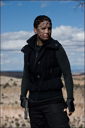 Gina Carano is shown in a scene from 'Haywire.'