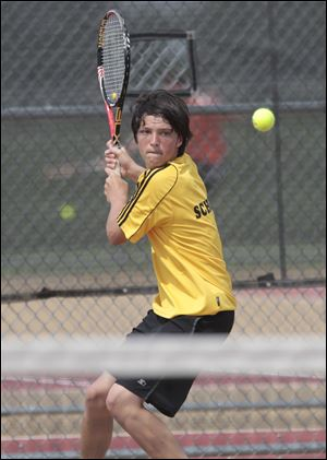 Perrysburg junior Jeff Schorsch won the NLL's No. 1 singles title by defeating Brandon Rachwal 6-0, 6-1.