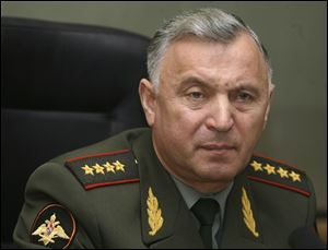 Gen. Nikolai Makarov, chief of the General Staff of the Russian armed forces, in a 2008 file photo.