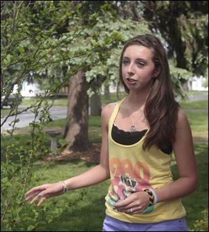 Celina Dusseau, 16, of Point Place remembers childhood fun activities at Friendship Park.