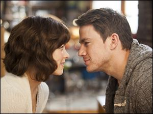 Rachel McAdams and Channing Tatum in a scene from 'The Vow.'