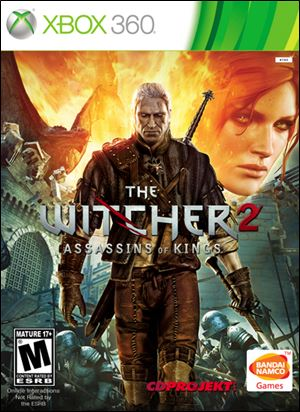 The Witcher 2: Assassins of Kings; Score: 4 stars; System: Xbox 360; Genre: Action RPG; No. Players: 1; ESRB Rating: M for Mature.