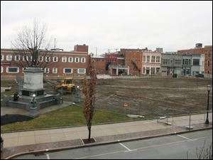Seneca County Commissioners are considering uses for the lot that once held the county's courthouse.