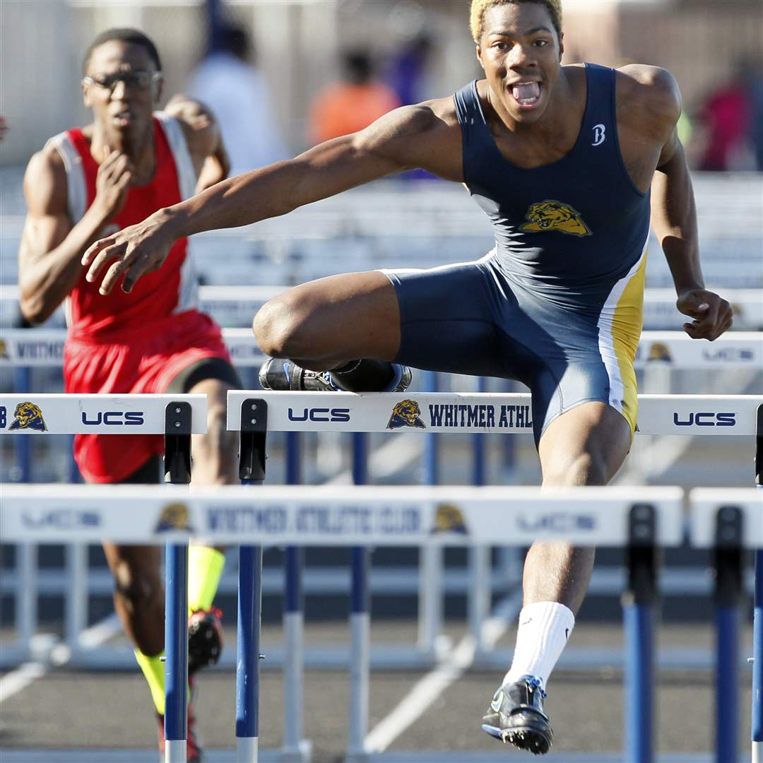 Mark-Meyers-of-Whitmer-wins-the-110-meter-hurdles