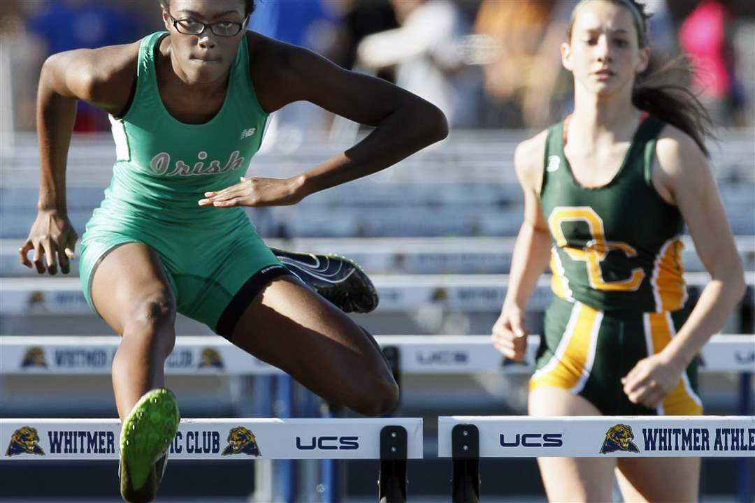 Jean-Hampton-of-Central-Catholic-wins-the-100-meter-hurdles