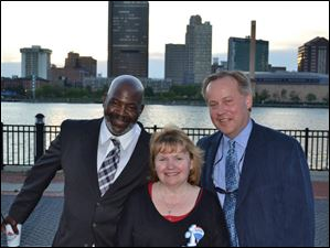 Mayor Bell, Kathy Kuyoth, Bob Mack at the Cinco de Mayo party by Remax.