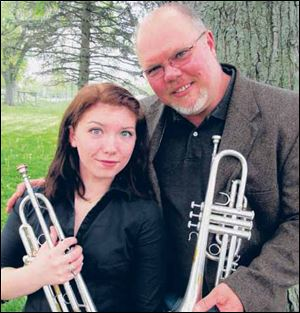 Mitch Steils and daughter Emily will play 'Taps' at Arlington National Cemetery.