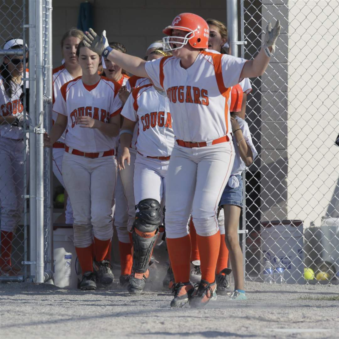 SSVHS-fist-base-player-Molly-Gast-celebrates
