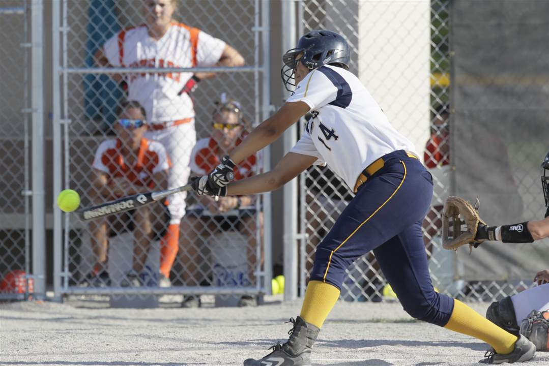 NDA-pitcher-Cassie-Gillespie-hits-a-fly-ball