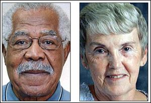 Norman Bell, Sr., left, father of Toledo Mayor Mike Bell, and Darlene Baney are among the 12 'older Ohioans' to be recognized Tuesday for service and contributions to their communities.