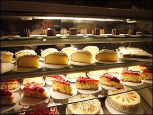 The dessert case at the Epic Buffet inside the Hollywood Casino.