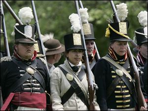 Re-enactments and artillery demonstrations will take place at Fort Meigs Saturday and Sunday.