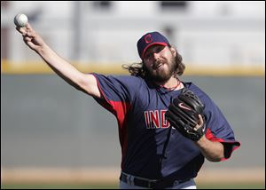 Cleveland Indians relief pitcher Chris Perez has 13 saves this season.