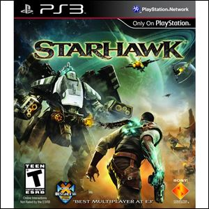 Game: Starhawk; Grade ***; System: PS3; Publisher: Sony; Genre: Shooter; ESRB rating: Teen.
