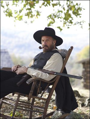 "Kevin Costner stars in ""Hatfields & McCoys"" on History."