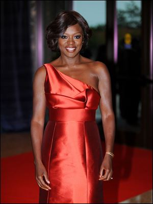 Viola Davis talked to graduating seniors Thursday at Central Falls High School in Central Falls, R.I.
