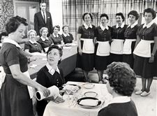 A-training-session-for-waitresses-is-provided-to-employees