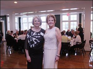 Diane Tousley, left, and Paula Hansen, right, during the Cotillion Club Spring Dance at the Carranor Hunt and Polo Club.