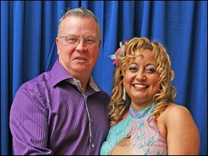 Linda Alvarado and partner pro Jeff Lever.