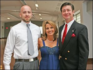 Left to right veteran Eric Bartkowiak, dance pro Cheryl Nicolaidis, and Eric Hillenbrand.