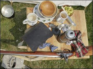 A British officer's personal belongings during the