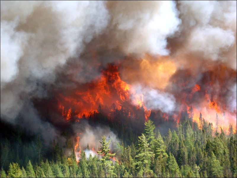 Crews work to protect structures after nearly 100 ...