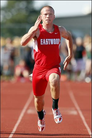 Isaiah Conkle of Eastwood will compete at state in the 100, 200, and as part of the 400-meter relay team.