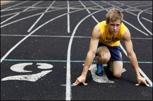 Toledo Christian senior Rowan Shaw is shooting for titles at the Division III state meet in the hurdle events (110 and 300 meters). He placed third in the 300 last year, and has second-best qualifying times in both events in D-III this year.