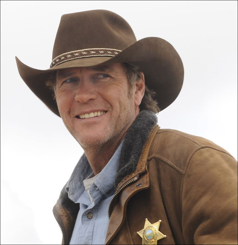as Walt Longmire, a Wyoming sheriff in A&E's new drama 'Longmire