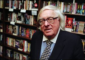 "Author Ray Bradbury  at a signing for his book ""Quicker Than The Eye"" in Cupertino, Calif."