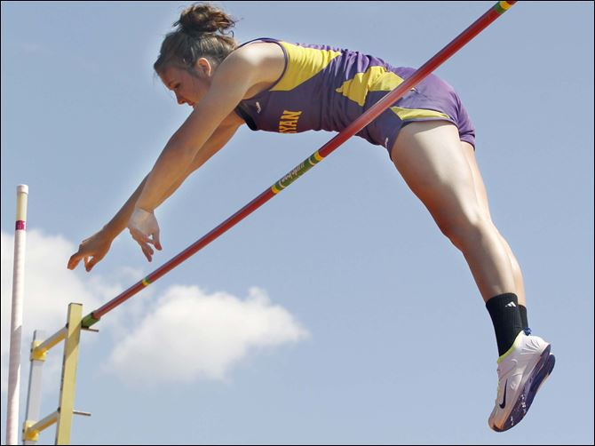 Sidelines McBride Bryan's Alyssa McBride won the Division II state pole vault title and set a all-division state record for girls at 13 feet, 1 inch.
