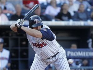 Toledo's Brad Eldred gets out of the way of a pitch by Charlotte Knights hurler Terry Doyle during the third inning.