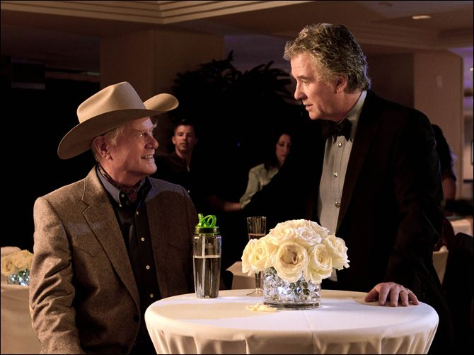TV-Dallas Hagman, Duffy Larry Hagman, left, and Patrick Duffy revive their roles as J.R. and Bobby Ewing in 'Dallas.'