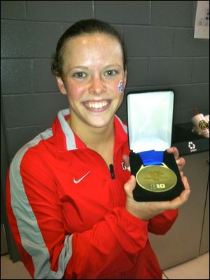 Cheyenne Cousineau won the Big Ten championships' platform diving title for Ohio State in February.