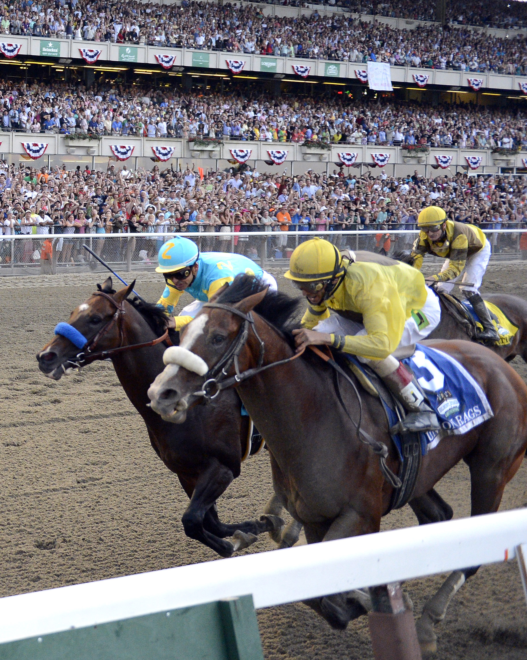 Union Rags Rallies To Capture Belmont The Blade