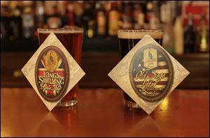 King's Shilling Pale Ale and Old Siege Lifter Honey Brown are now on tap at  Maumee Bay Brewing. The beers are not filtered, to stay true to the beer from the 1812 period.