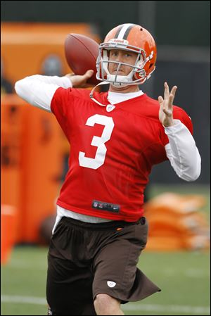 Although he has not been named the starter officially, Browns quarterback Brandon Weeden is playing the role of the No. 1 QB.
