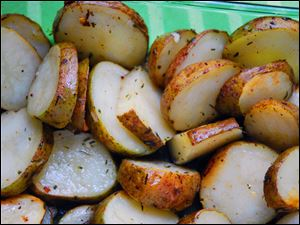 Any time of day or year, these Garlic-Roasted Potatoes will not disappoint.