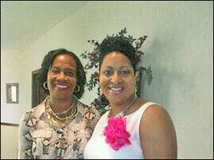 Alpha Kappa Alpha's Zeta Alpha Omega Chapter President Dr. Deborah Washington and Katina Johnson, vice president.