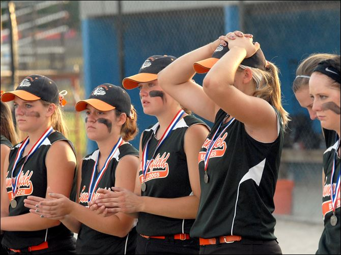 Summerfield falls short in finale An emotional Summerfield team is awarded its runners-up medals after falling to Dansville in the Division 4 championship game.